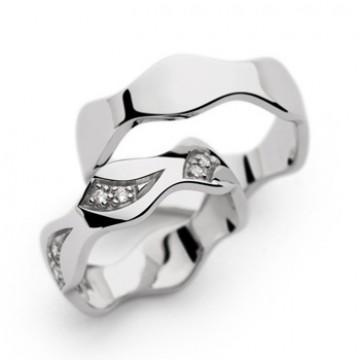Prstan Silver heart