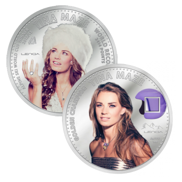 Srebrnik Srebrni spominski kovanec Tina Maze