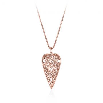 Ogrlica Hearts - medium rdeča